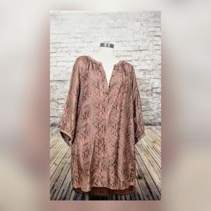 Scotch & Soda Boho Snake print Tunic dress